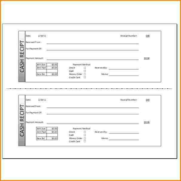 7+ cash payment receipt template word | Rental Receipt doc