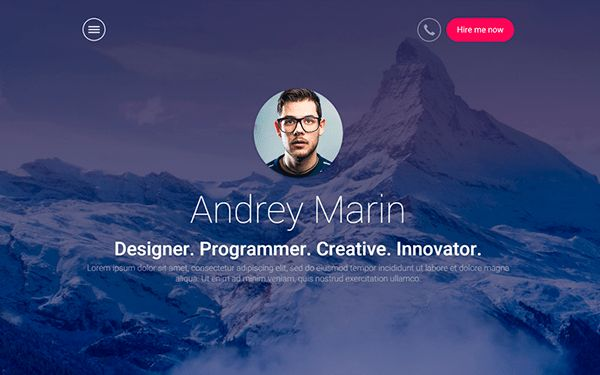MyWALL - HTML Resume Portfolio | Bootstrap Portfolio and Resume ...