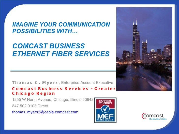 Comcast Business Ethernet Fiber Service