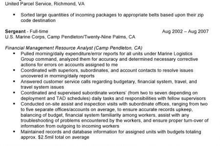Prior Military Resume Examples Rental Lease Agreement Word .