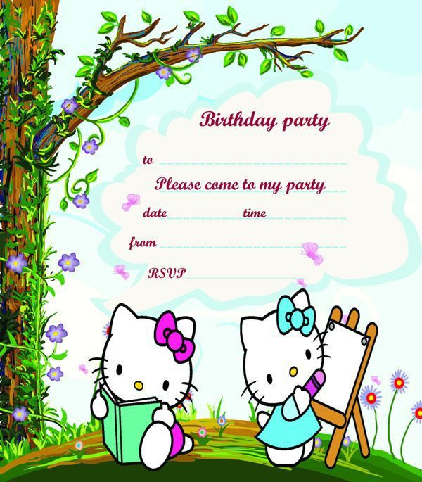 30 Attractive Free Hello Kitty Invitations that You Will Love to ...