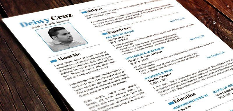 Unique Resume Templates Free. 30 Free & Beautiful Resume Templates ...