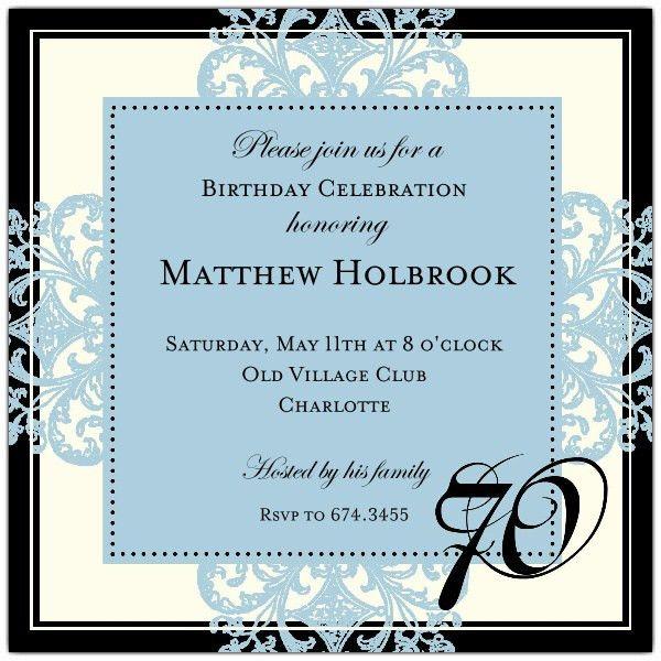 70th Birthday Invitation Wording - Themesflip.Com