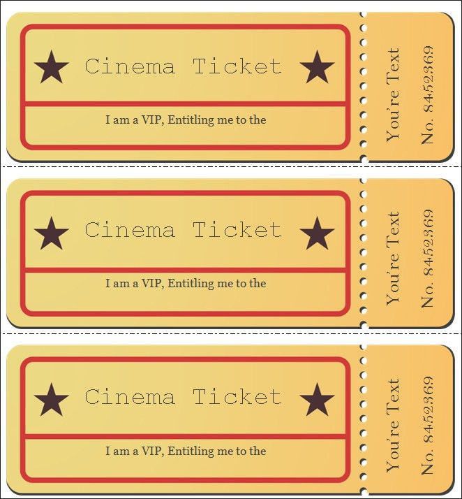 Movie Ticket Template. Movie Ticket Invitations Template Like Mom ...