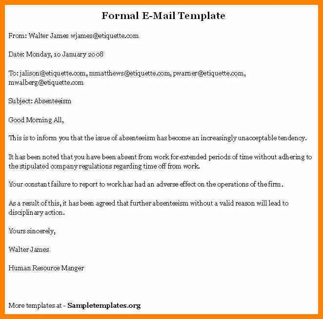 7+ examples of formal email   it cover letter