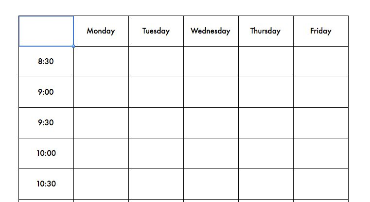 Therapy Schedule Template - Speechtivities