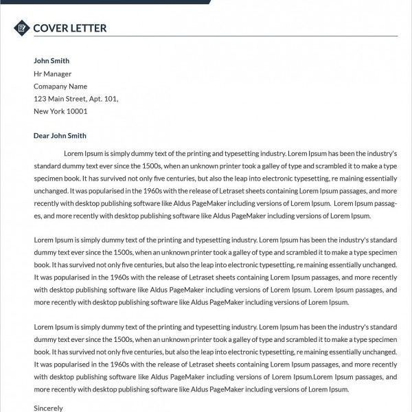 Standard Cover Letter, simple cover letter templates - 35+ free ...