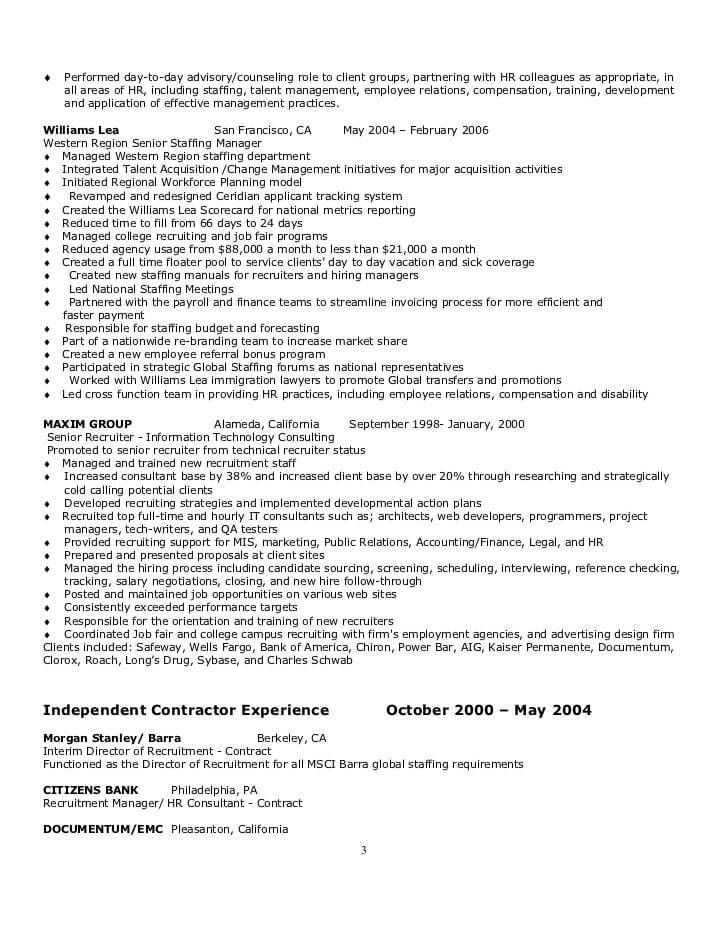 employee relation manager resume professional employee relations