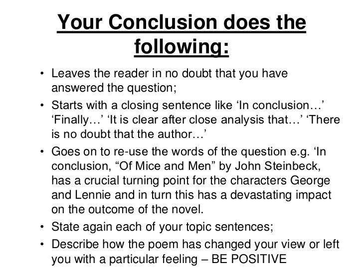 Literary analysis essay conclusion example