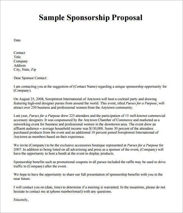28+ [ Event Sponsorship Proposal Template ] | Sponsorship Proposal ...
