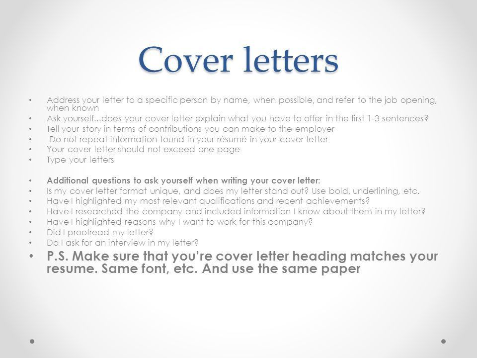 Should Resume And Cover Letter Heading Match | Professional ...