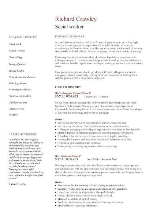 Download Resume Format For Social Worker | haadyaooverbayresort.com