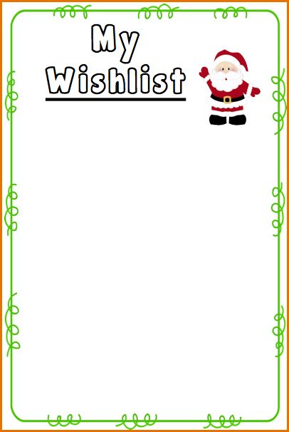 9+ santa wish list template | Job Resumes Word