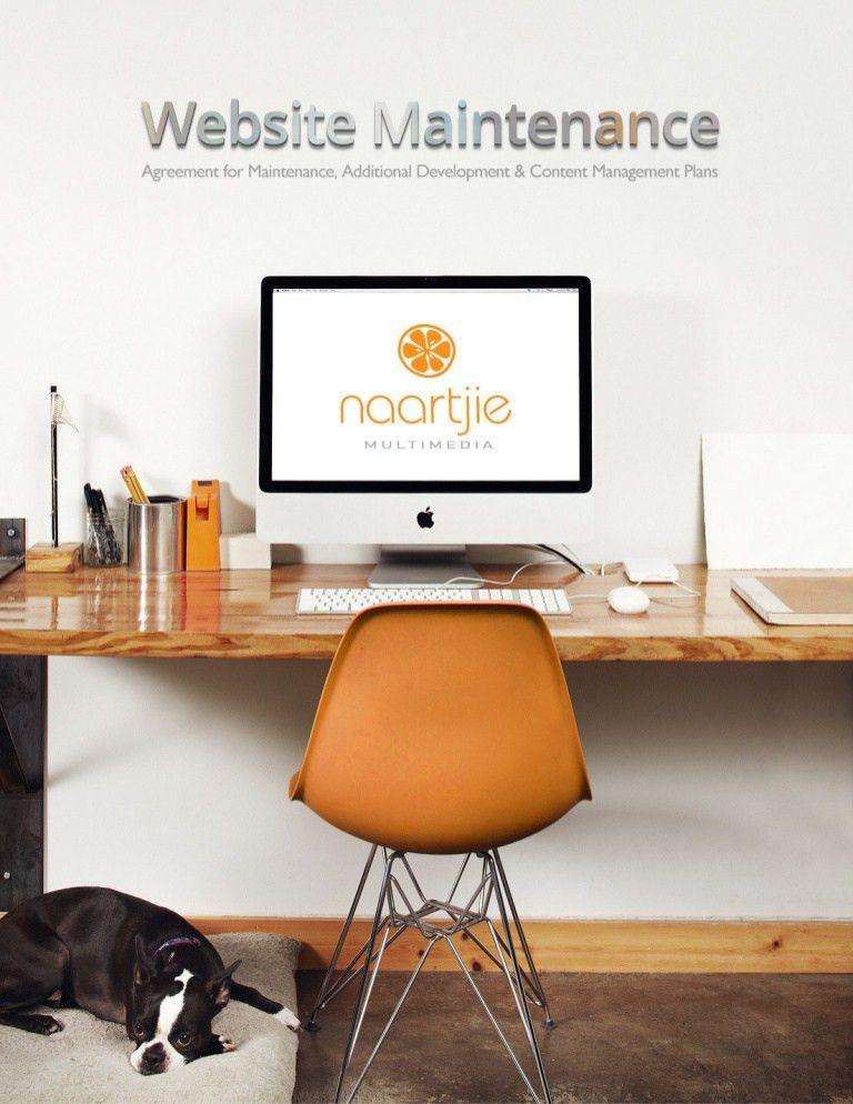 Web capabilities and maintenance plan.