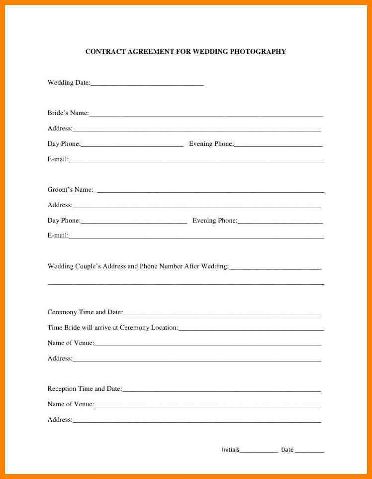 6+ wedding photographer contract template | grocery-clerk