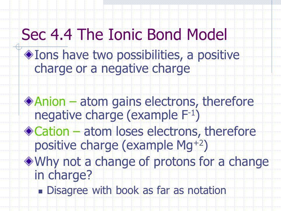 Chapter 4 Chemical Bonding: Ionic Bond Model. - ppt download