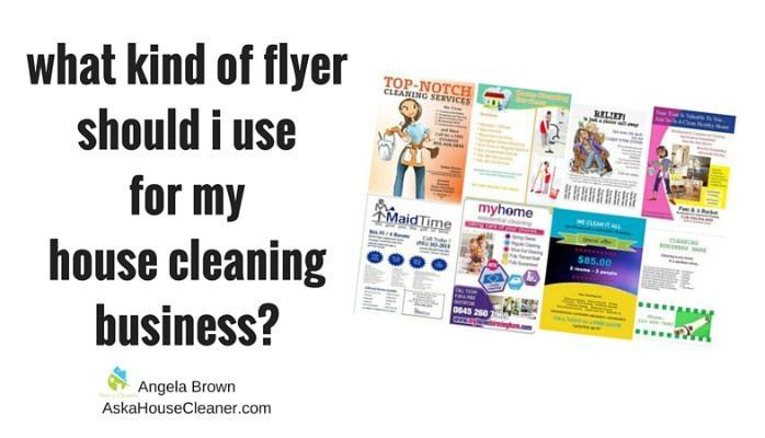 Flyers for my House Cleaning Company? | Angela Brown Oberer ...