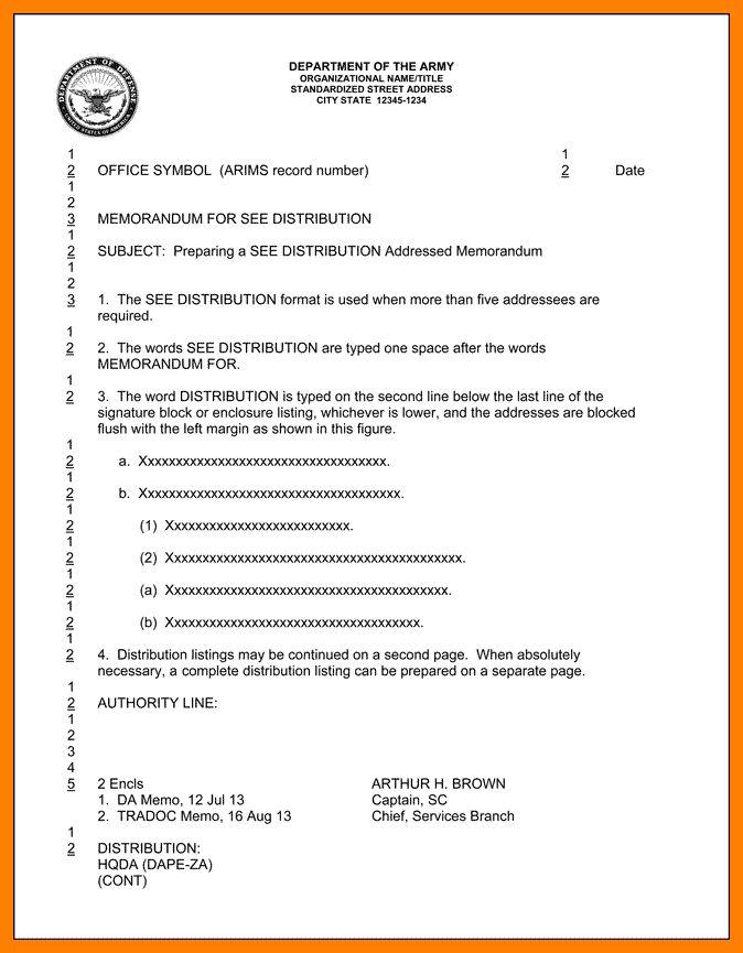 14+ army memorandum format | addressing letter