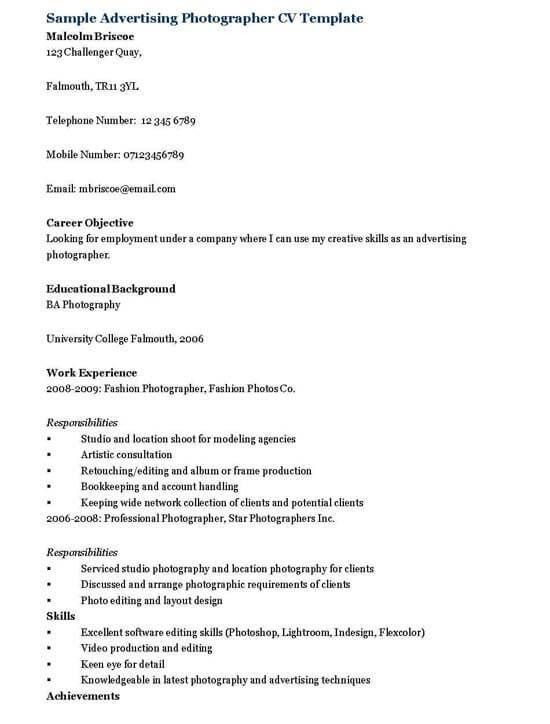 graphic designer resume tips and examples photography graphic ...