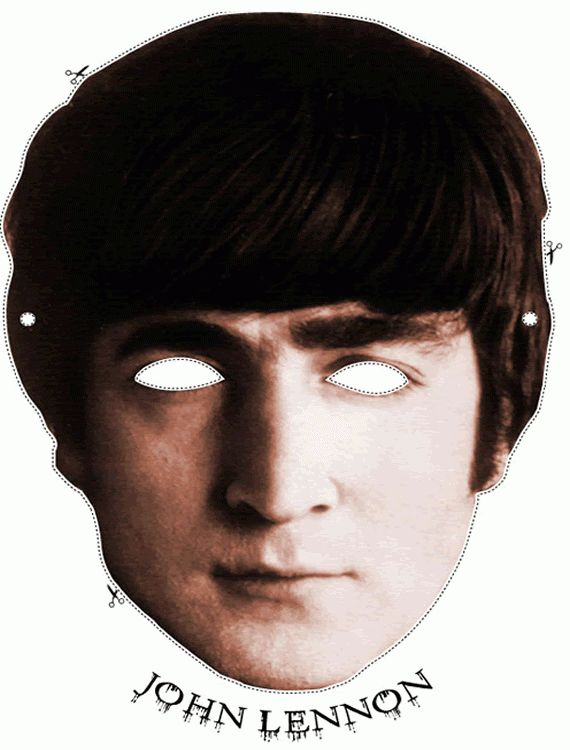 Free John Lennon (the Beatles) Cut Out Printable Mask #free ...