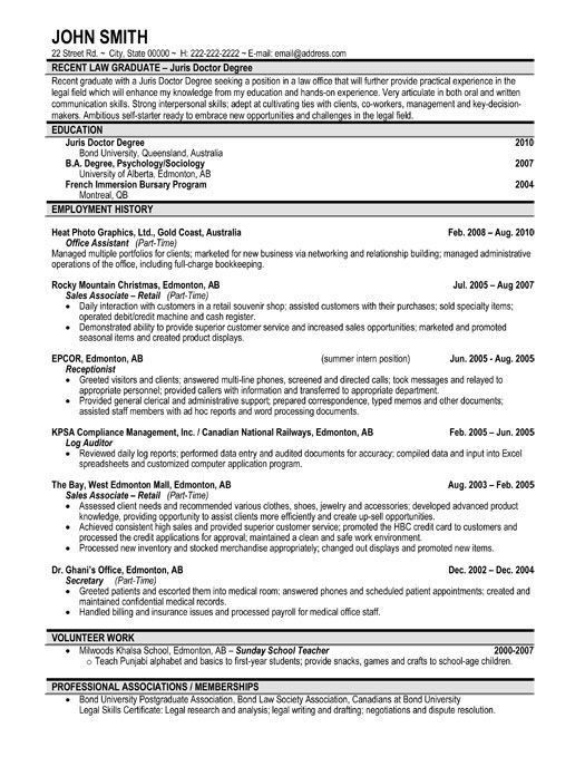 Recent Graduate Resume Template. Recent Graduate Resume Template ...