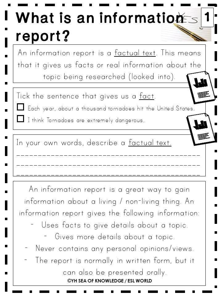 Writing Information Reports Writing Reports Guide Printables and ...