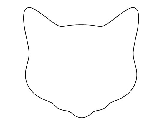 Cat face pattern. Use the printable outline for crafts, creating ...