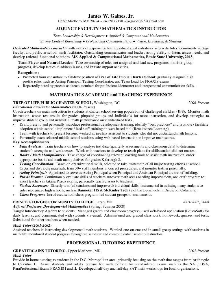 James Gaines Jr Academic Resume R2
