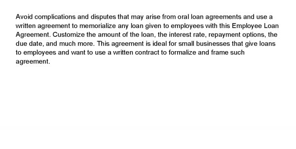 Small Loan Contract Sample Small Loan Agreement Template Small ...