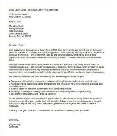 Sales Cover Letter. Sample Cover Letter Career Change Anant ...