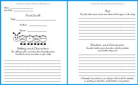 Caterpillar Book Report Project: templates, worksheets, grading ...