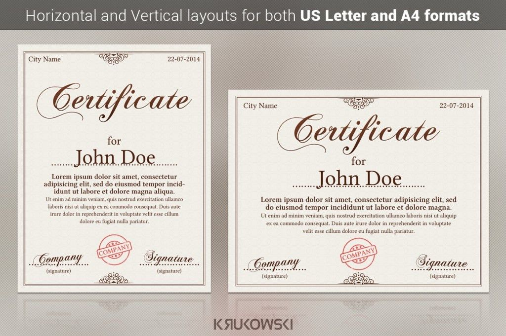 Take a Look at the most popular gift certificate templates