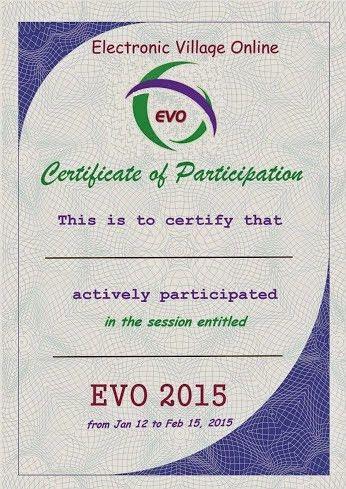EVO Training / Certificates of Participation