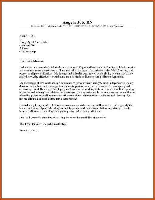 cover letter for nursing | sop example