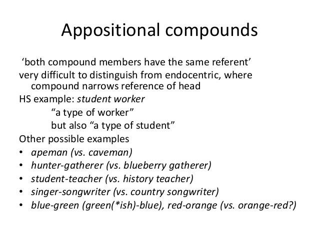 Compounds and word trees(1)