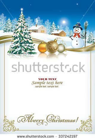 Christmas Card Template Stock Images, Royalty-Free Images ...