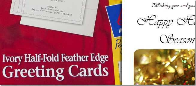 Design and Print Your Own Christmas Cards in MS Word, Part 1