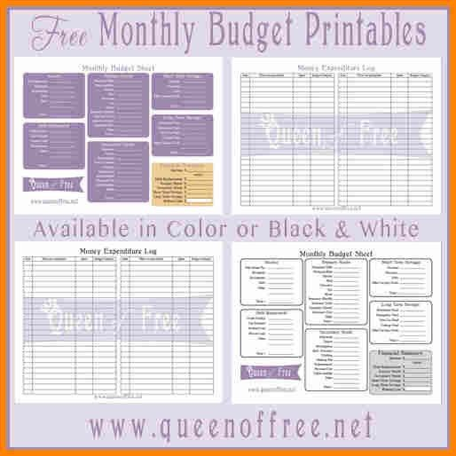 6+simple budget template printable | budget template
