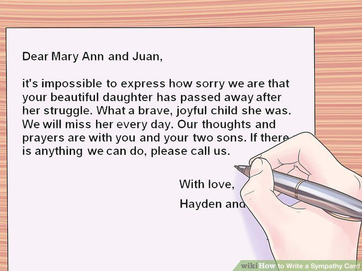 How to Write a Sympathy Card: 10 Steps (with Pictures) - wikiHow