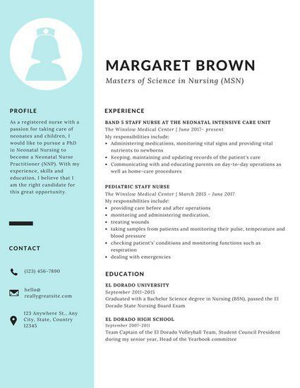 Blue Sidebar Scholarship Resume - Templates by Canva