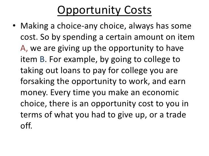 Scarcity, trade off, opportunity cost