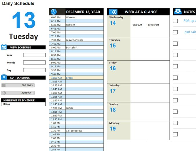 2017 year-at-a-glance calendar (Mon-Sun) - Office Templates
