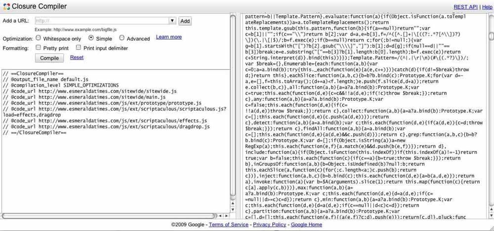 Compressing your JavaScript with Closure Compiler | PageSpeed ...