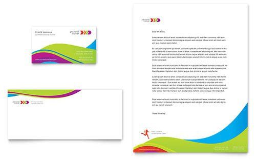 Sports & Fitness - Business Card Templates - Word & Publisher