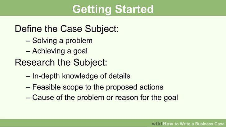 How to Write a Business Case: 11 Steps (with Pictures) - wikiHow