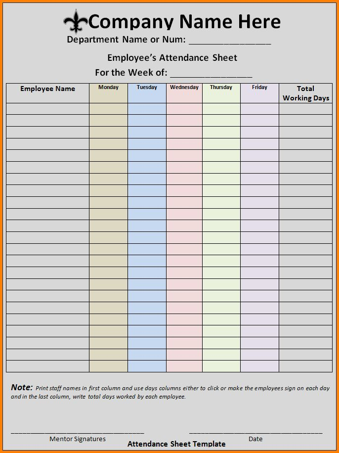 Attendance Spreadsheet Template.meeting Attendance Sheet.jpg ...