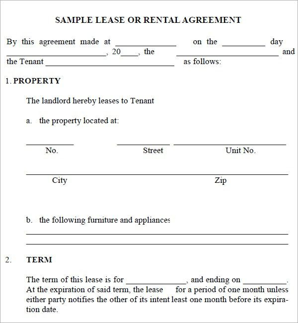 Simple Rental Agreements. Simple Lease Agreement Template Lease ...