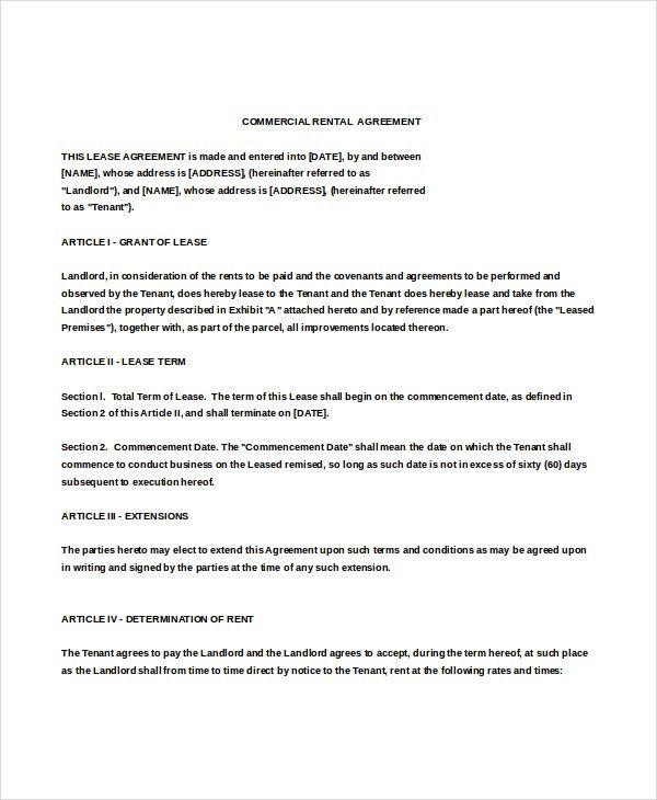 10+ Enterprise Rental Agreement Templates – Free Sample, Example ...