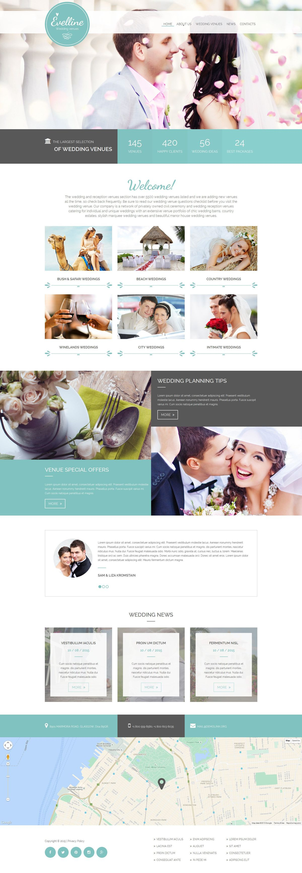 Wedding Website Template #41282