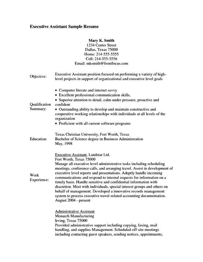 14 Executive Assistant Resume Objective Resume performance ...